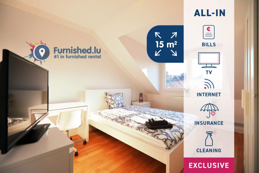 louer chambre 10 chambres 15 m² luxembourg photo 1