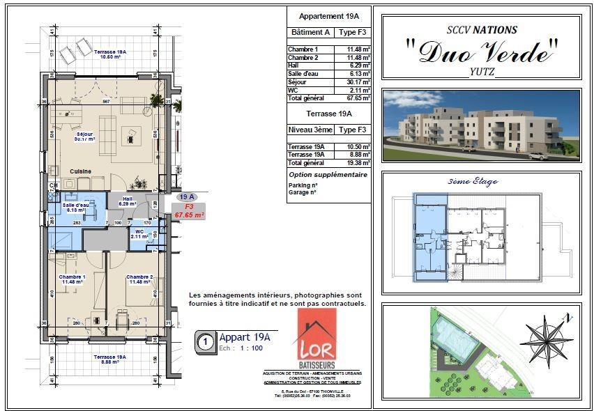 acheter appartement 3 pièces 67.65 m² yutz photo 3