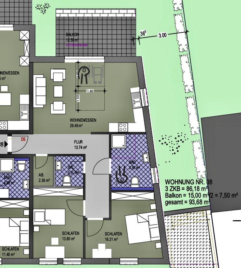 acheter appartement 3 pièces 93.68 m² konz photo 2
