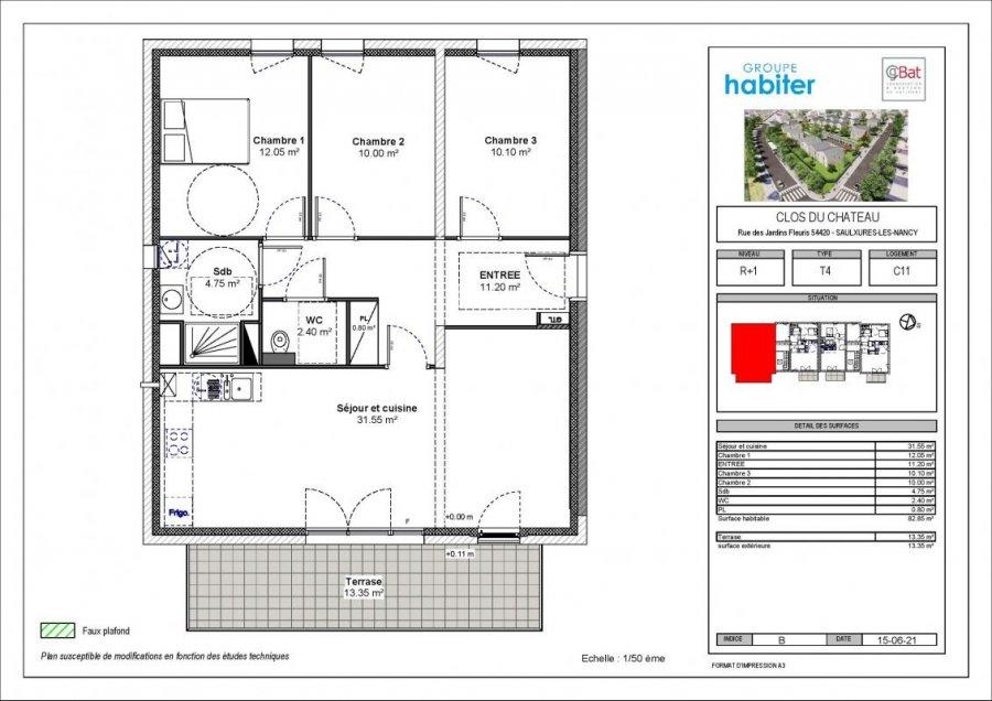 acheter appartement 4 pièces 82 m² saulxures-lès-nancy photo 1