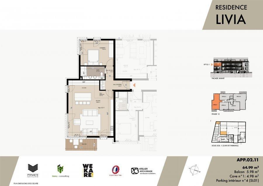 wohnung kaufen 1 schlafzimmer 67.38 m² luxembourg foto 3