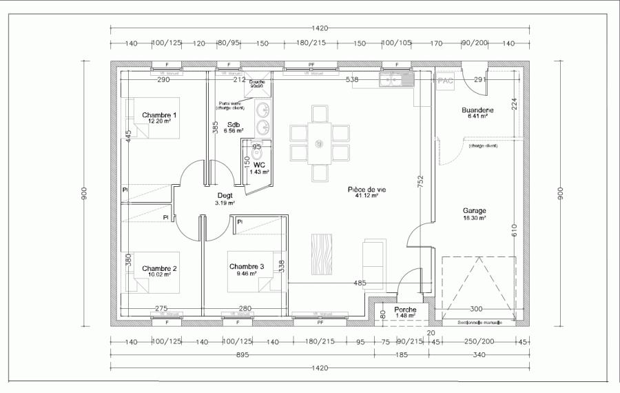 acheter maison individuelle 4 pièces 90 m² baudricourt photo 2