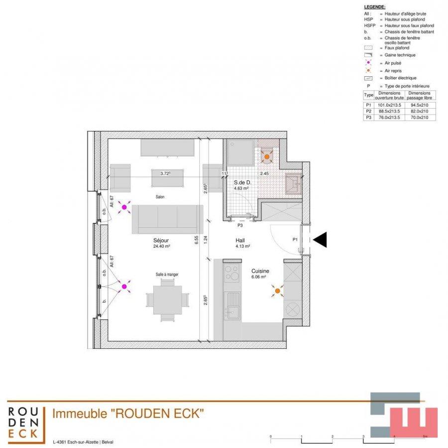 apartment mieten 1 schlafzimmer 40 m² belval foto 3