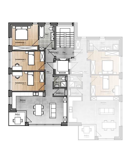 acheter appartement 3 chambres 94.45 m² junglinster photo 3