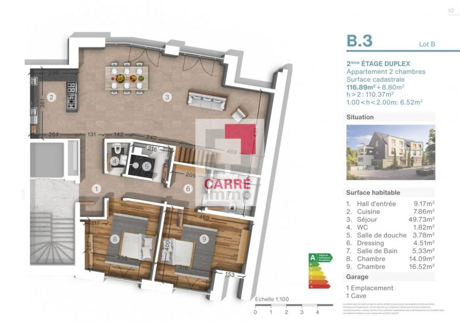duplex for buy 2 bedrooms 125.69 m² luxembourg photo 3