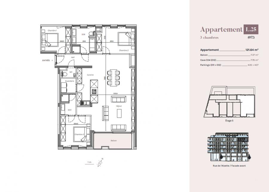 apartment for buy 3 bedrooms 121.64 m² esch-sur-alzette photo 3