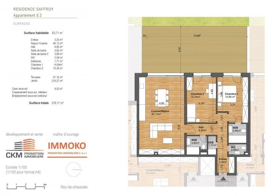 acheter appartement 2 chambres 93.71 m² beaufort photo 3