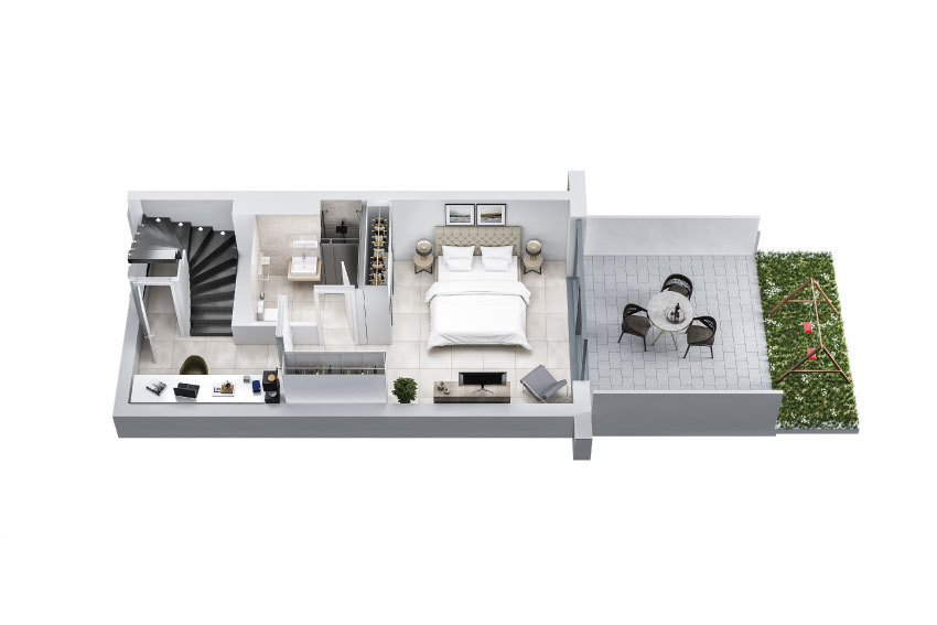 acheter duplex 2 chambres 102.25 m² colmar-berg photo 4
