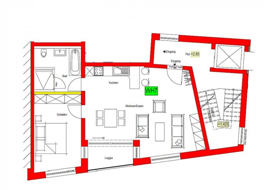 wohnung mieten 2 zimmer 68 m² nittel foto 1