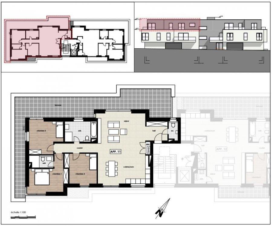 Penthouse à vendre 3 chambres à Luxembourg-Kirchberg