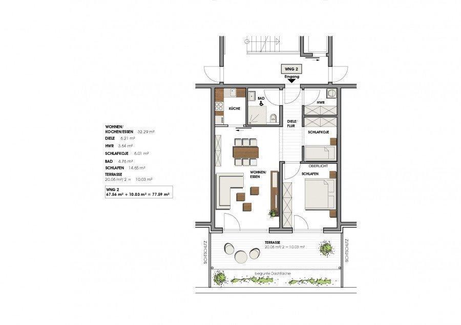 wohnung mieten 3 zimmer 78 m² perl foto 7