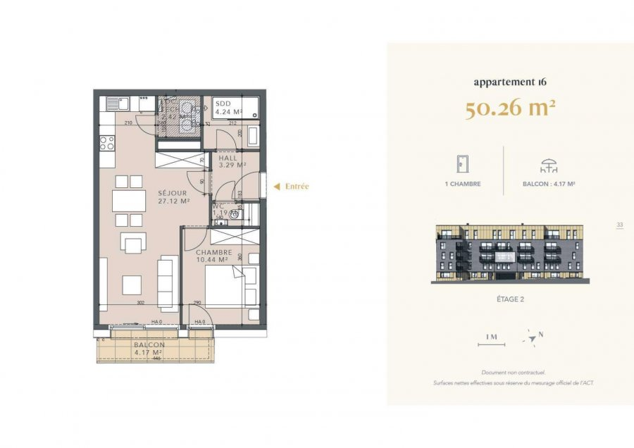 acheter appartement 1 chambre 50.26 m² luxembourg photo 4