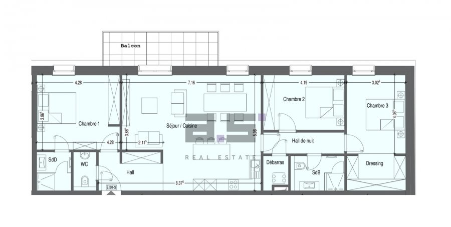 wohnung kaufen 3 schlafzimmer 113.33 m² mondercange foto 7