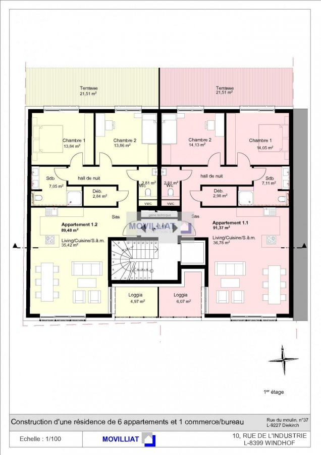 büro kaufen 0 schlafzimmer 93.73 m² diekirch foto 7