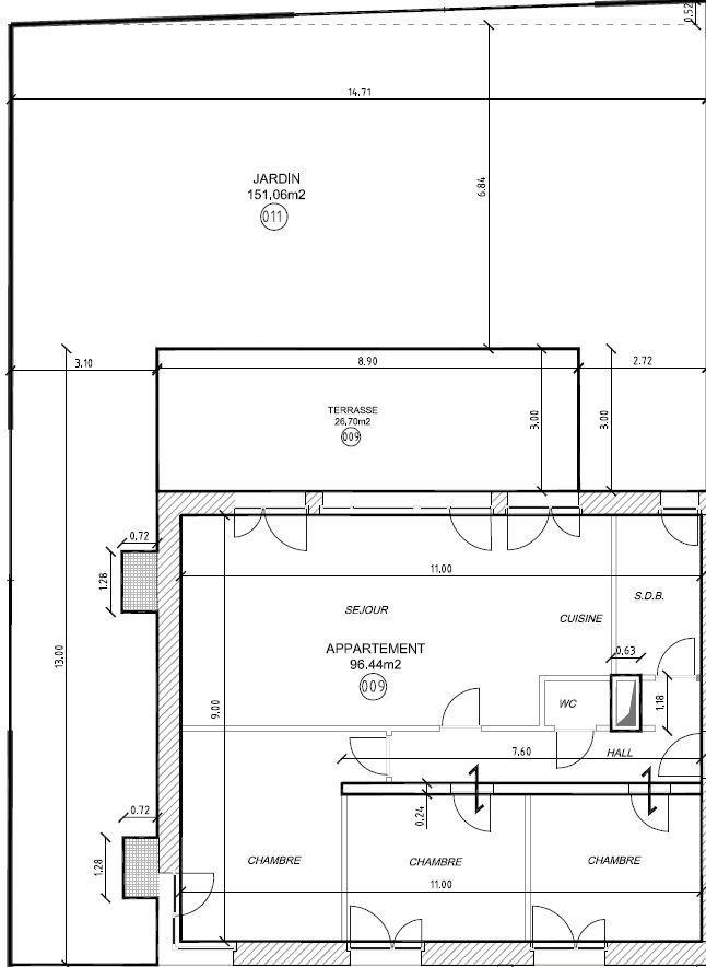Appartement en vente wecker 96 m prix sur demande for Acheter un appartement en construction