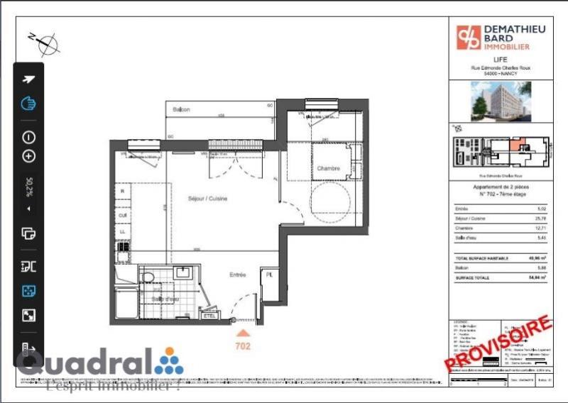 acheter appartement 2 pièces 48 m² nancy photo 4