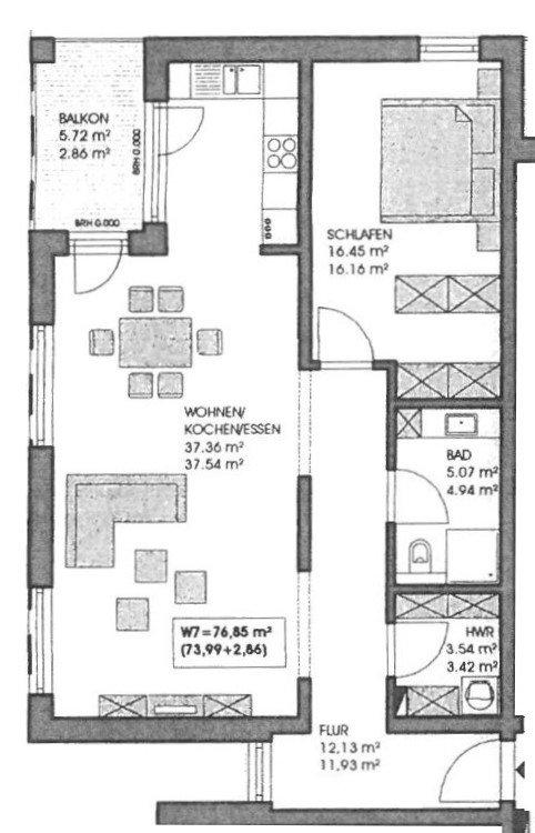 wohnung kaufen 2 zimmer 76.85 m² merzig foto 2