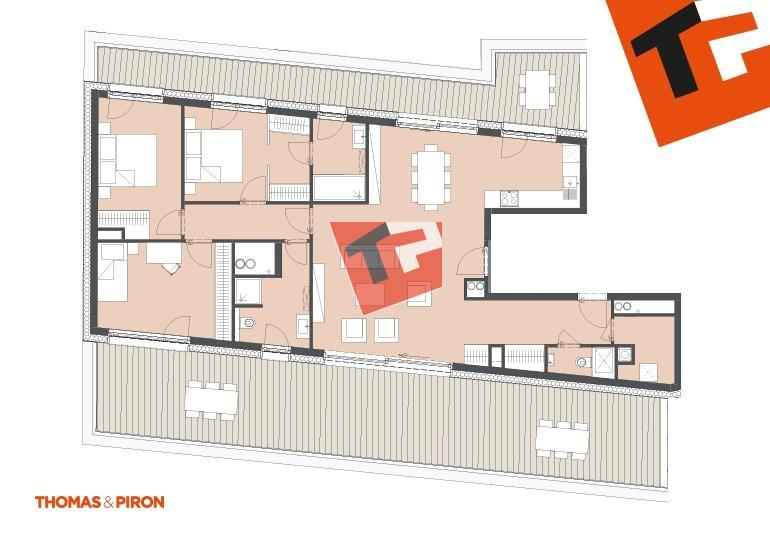 penthouse-wohnung kaufen 3 schlafzimmer 122.29 m² schifflange foto 1