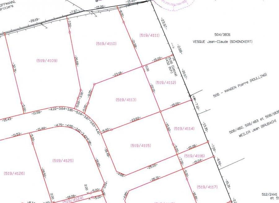 Terrain constructible à vendre à Schuttrange