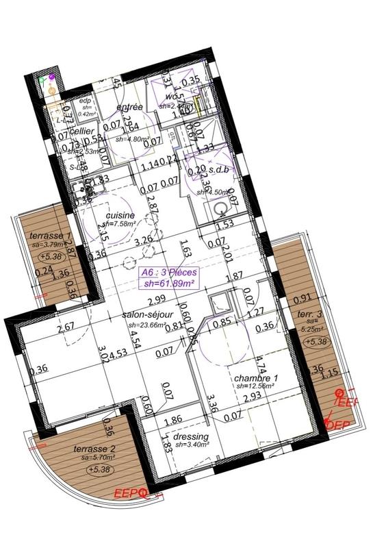 acheter appartement 2 pièces 62 m² yutz photo 4