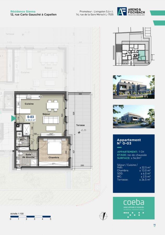 acheter appartement 1 chambre 54 m² capellen photo 1