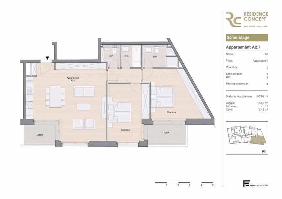 wohnung kaufen 2 schlafzimmer 107.5 m² luxembourg foto 3
