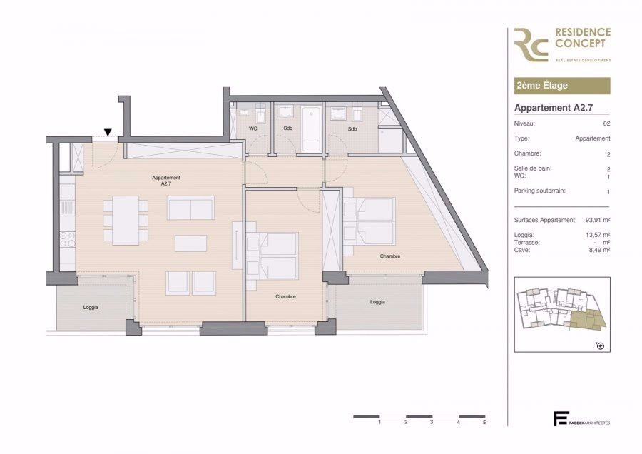 acheter appartement 2 chambres 107.5 m² luxembourg photo 3