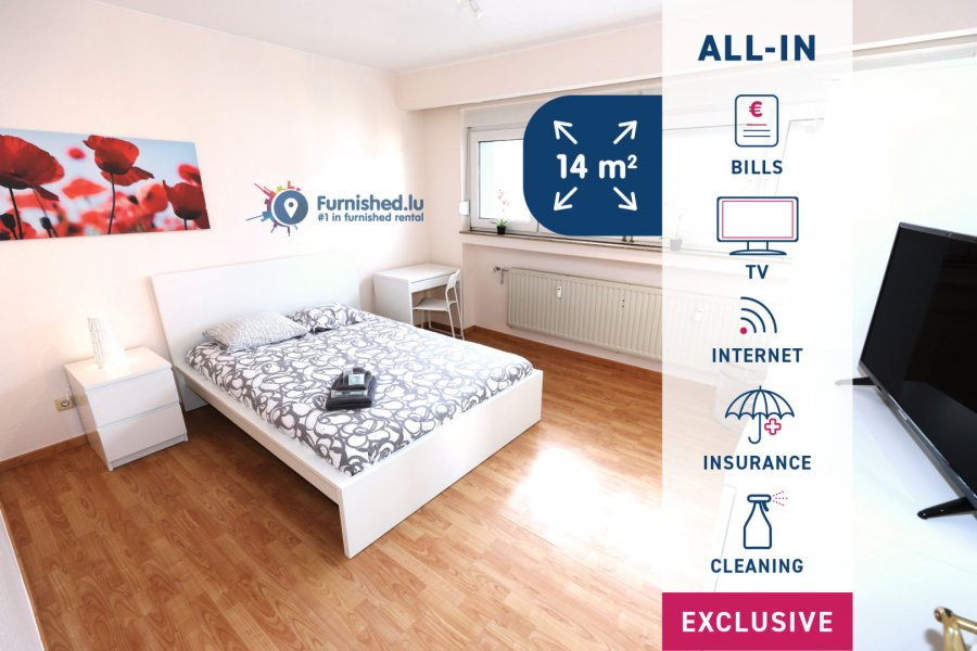 louer chambre 4 chambres 14 m² luxembourg photo 1