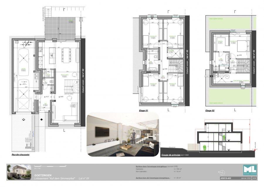 acheter maison jumelée 5 chambres 190 m² goetzingen photo 3