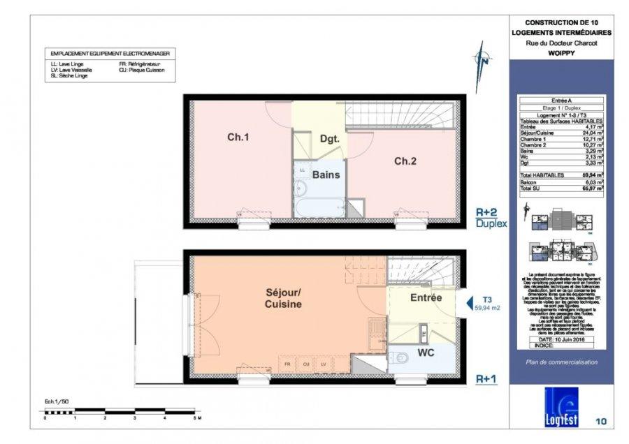acheter appartement 3 pièces 60 m² woippy photo 2