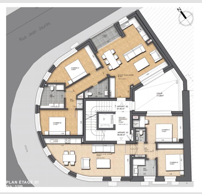 wohnung kaufen 2 schlafzimmer 86.85 m² dudelange foto 2