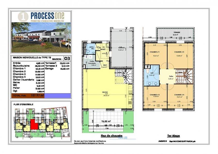 acheter maison 6 pièces 107.97 m² hauconcourt photo 2