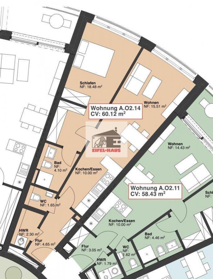 wohnung kaufen 2 schlafzimmer 60.12 m² wasserbillig foto 1