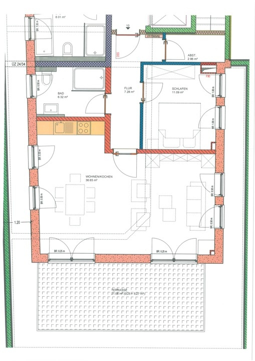 wohnung mieten 2 zimmer 69.65 m² langsur foto 3