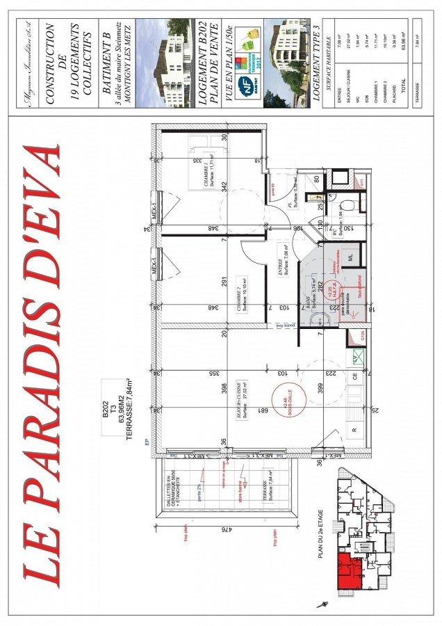 acheter appartement 3 pièces 63.96 m² montigny-lès-metz photo 3