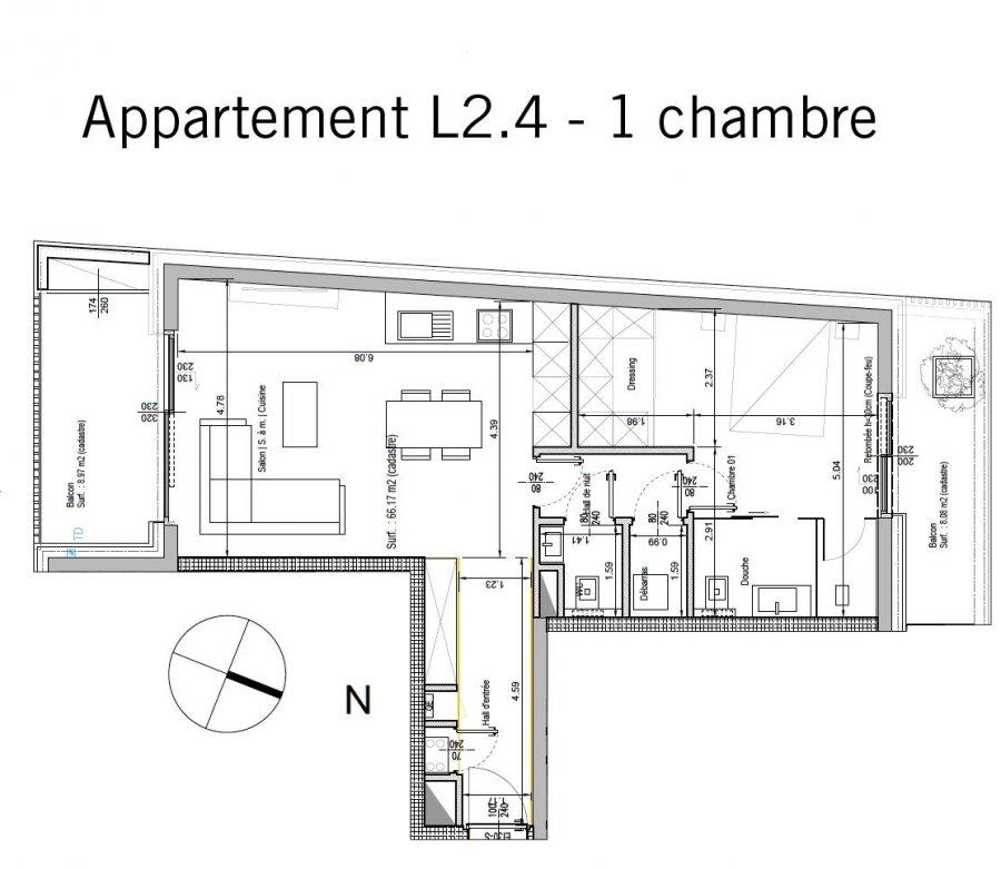 acheter appartement 1 chambre 71.85 m² bertrange photo 2