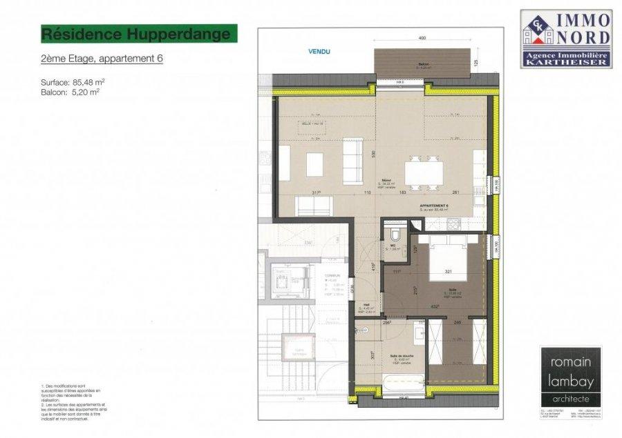 acheter appartement 1 chambre 64.65 m² hupperdange photo 3