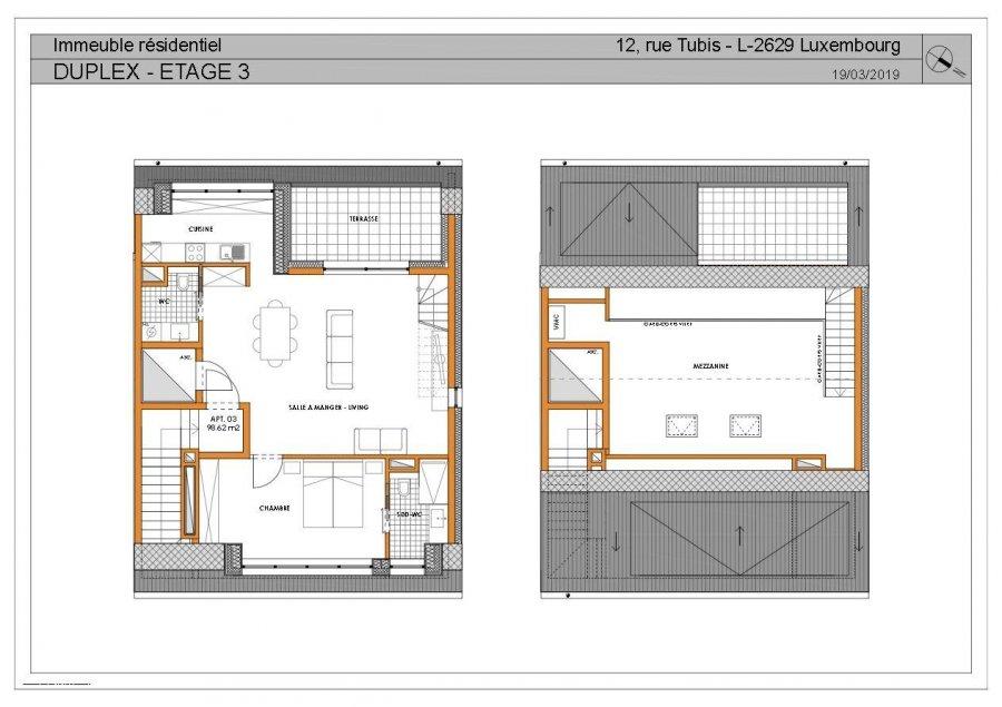Duplex à vendre 2 chambres à Luxembourg-Cessange