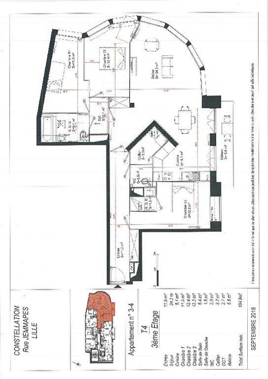 acheter appartement 4 pièces 104.9 m² lille photo 2
