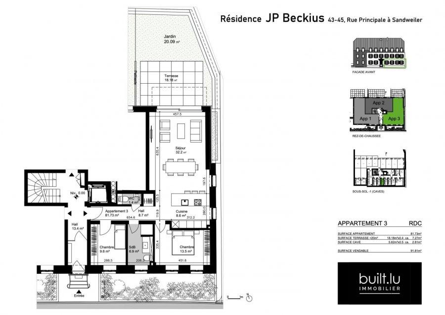 acheter appartement 2 chambres 82 m² sandweiler photo 3