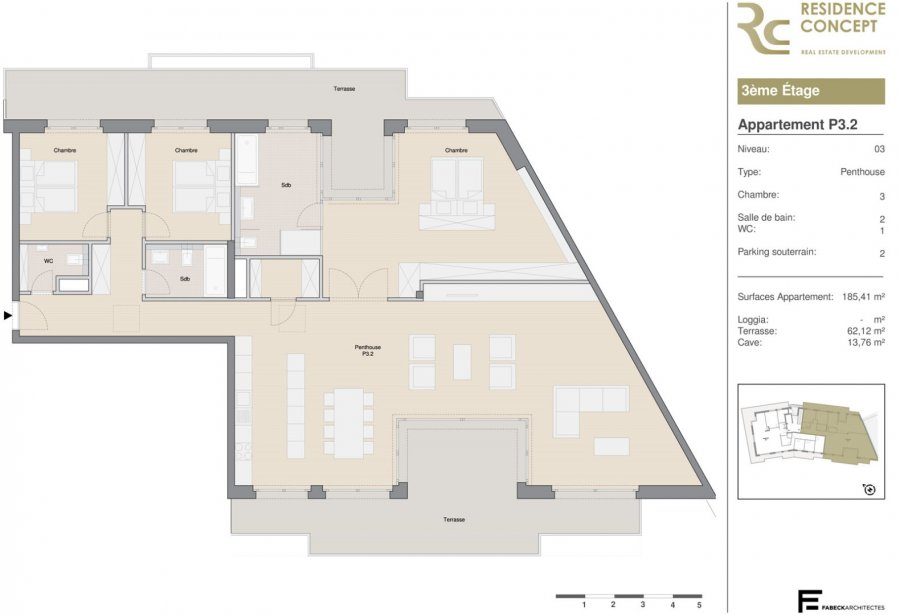 acheter penthouse 3 chambres 185 m² luxembourg photo 4