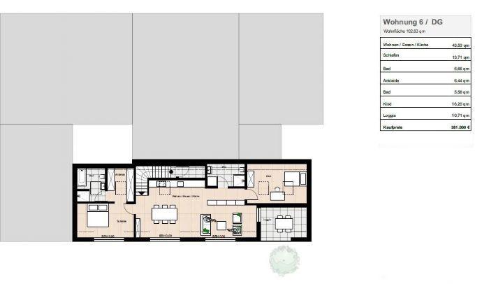 penthouse-wohnung kaufen 3 zimmer 102.83 m² homburg foto 2