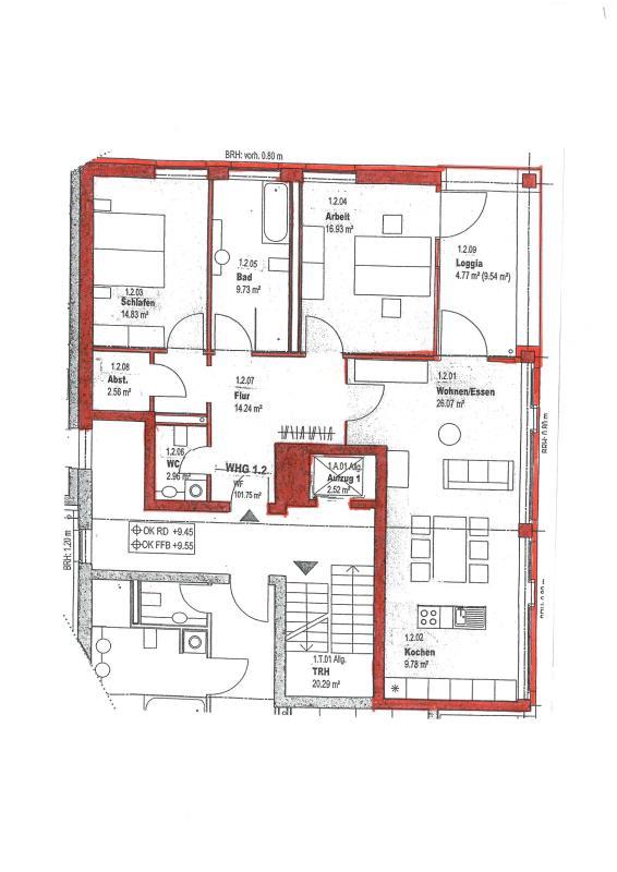 wohnung mieten 3 zimmer 101.75 m² trier foto 4
