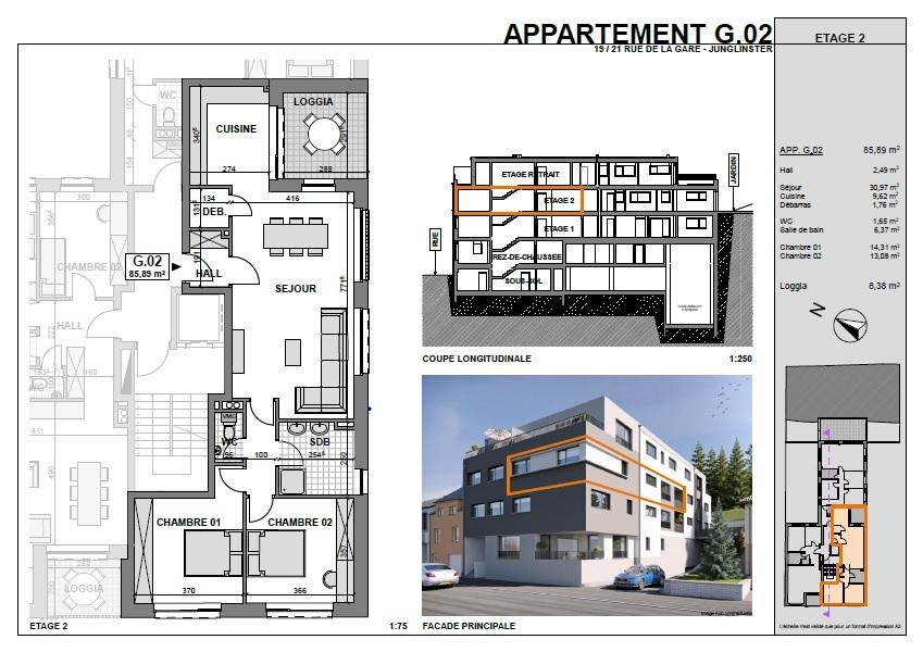 Appartement à vendre 2 chambres à Junglinster