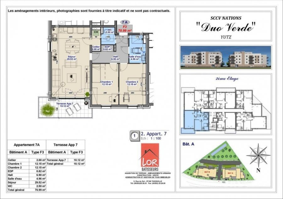 acheter appartement 3 pièces 70.99 m² yutz photo 4
