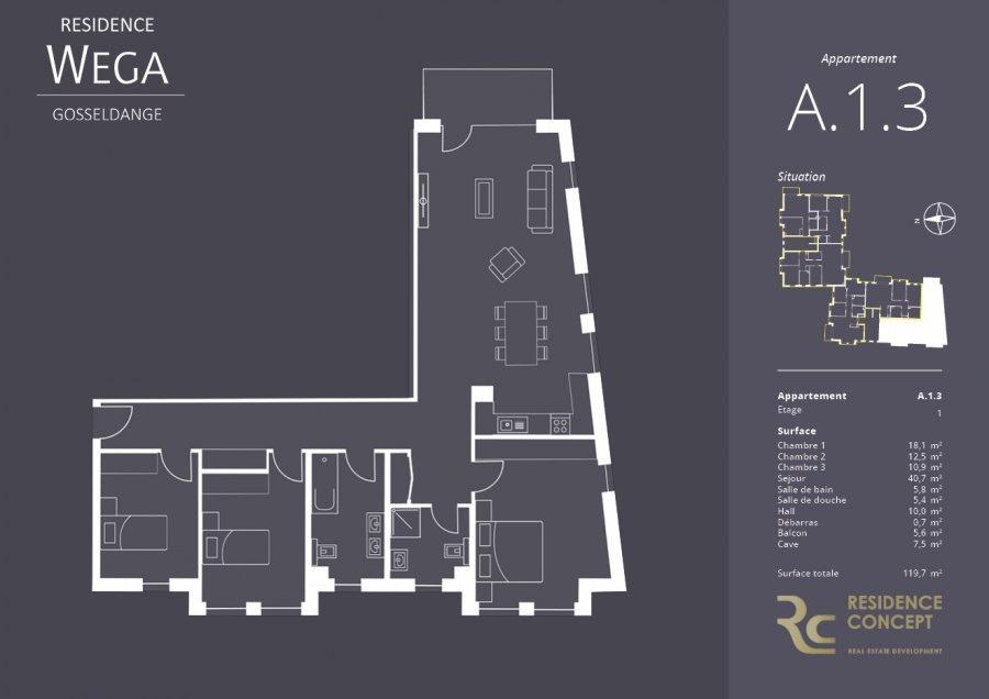 acheter appartement 3 chambres 119.7 m² gosseldange photo 2