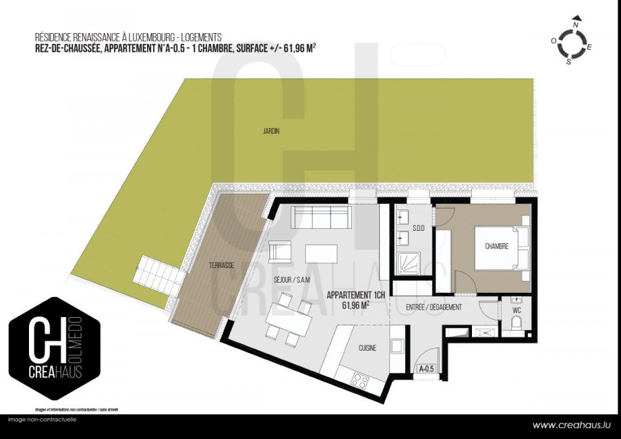 apartment for buy 1 bedroom 61.96 m² luxembourg photo 3