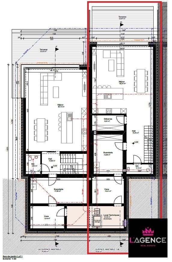 acheter maison mitoyenne 4 chambres 190 m² bollendorf-pont photo 4