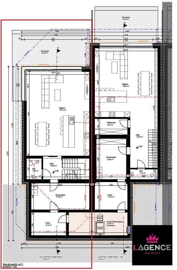 acheter maison mitoyenne 4 chambres 190 m² bollendorf-pont photo 3