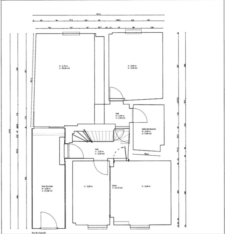 Maison mitoyenne à vendre 2 chambres à Luxembourg-Bonnevoie